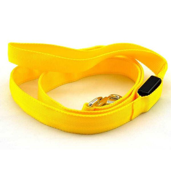 LED Leine für Hunde Gelb