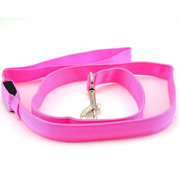 LED Leine für Hunde Pink