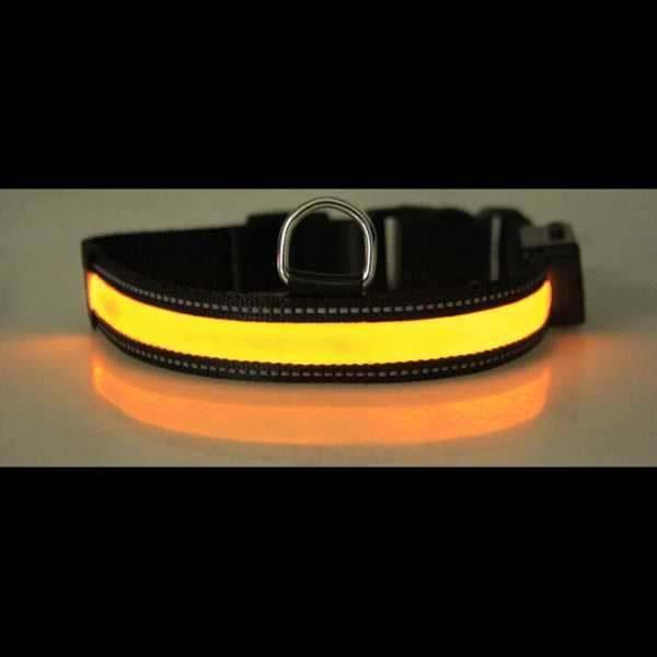 Leuchthalsband Gelb